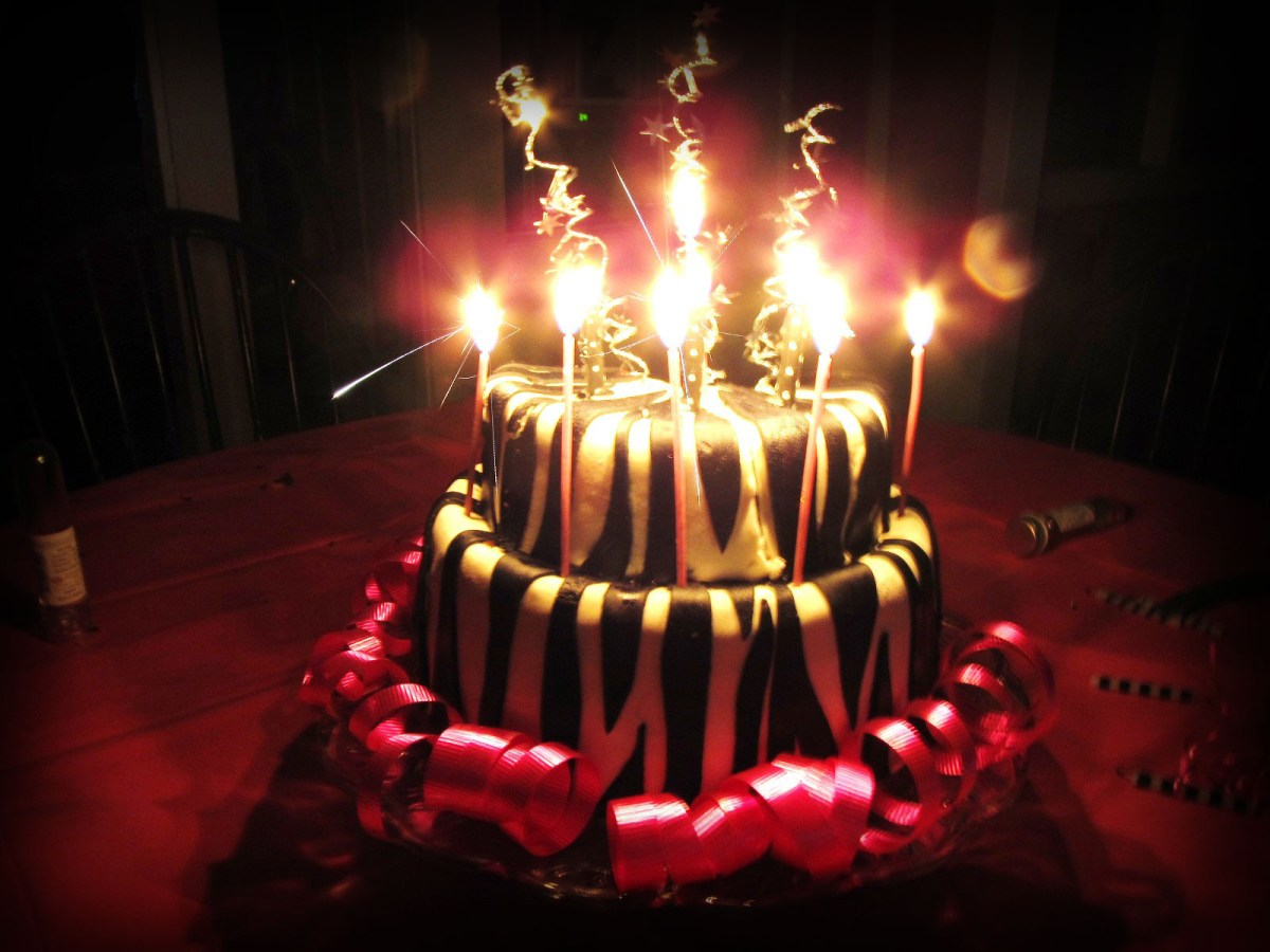 Birthday Cakes With Candles Sparkling