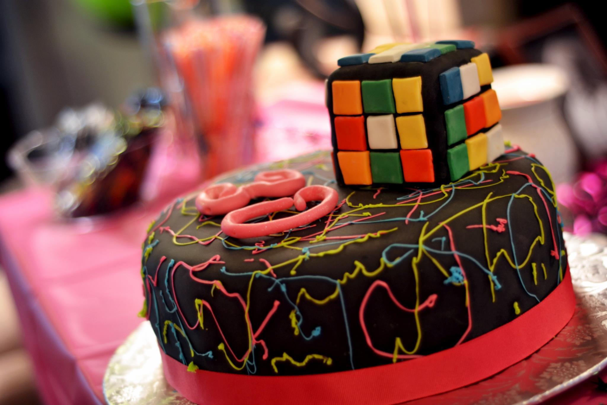 Birthday Party Cakes 80s Themed Cake K Town