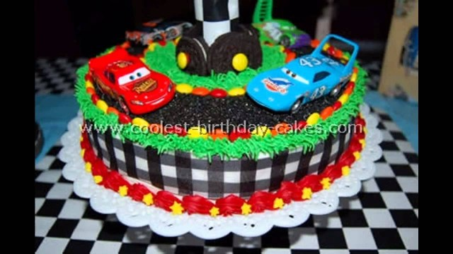 Birthday Party Cakes Car Themed Party Cake Ideas Youtube
