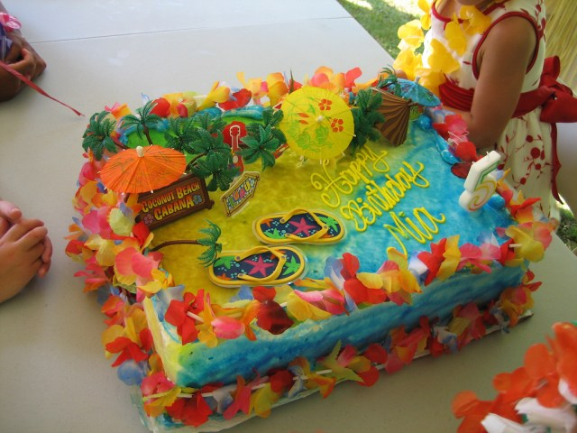 Birthday Party Cakes Mias Hawaiian Luau Birthday Party Cake My Daughter Usuall Flickr