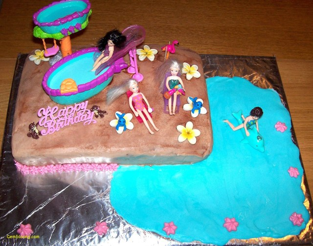 Birthday Party Cakes Swimming Pool Birthday Party Cake Wwwbilderbeste