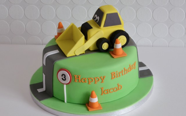 Boys Birthday Cakes Boys Birthday Cake Digger Cake Bespoke Cakes For All Occasions