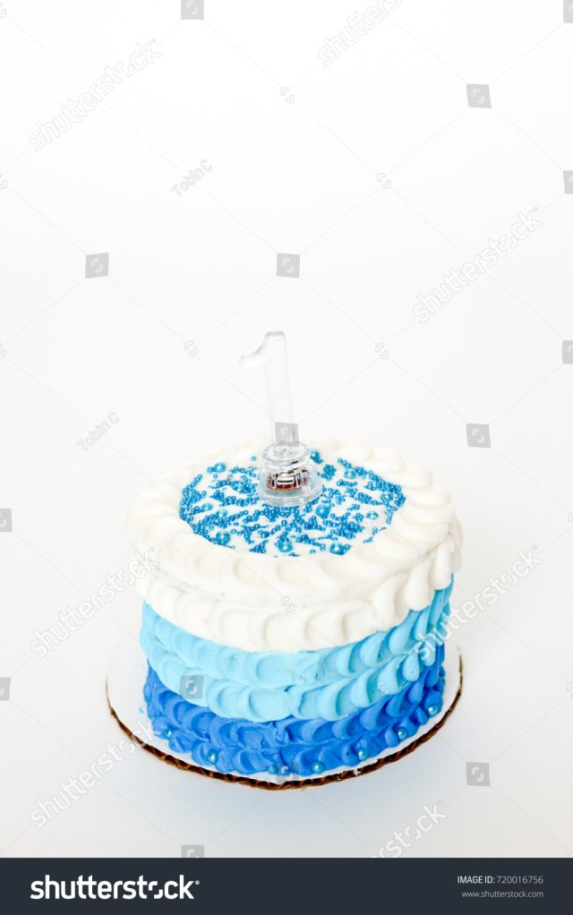 Boys First Birthday Cake Celebrating Ba Boys First Birthday Blue Stock Photo Edit Now