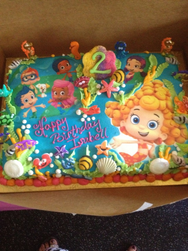 Bubble Guppies Birthday Cake Bubble Guppies Cake Thanks To Hfhornberger Bakery For Isabells