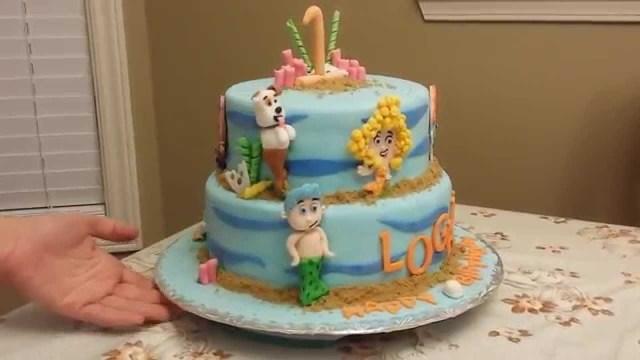 Bubble Guppies Birthday Cake The Bubble Guppies Theme Birthday Cake Youtube