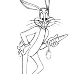Bugs Bunny Coloring Pages Fresh Bugs Bunny Coloring Pages Outline Super Coloring Page