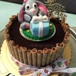 Bunny Birthday Cake Bunny Cookies Cream Chocolate Birthday Cake Baking Language