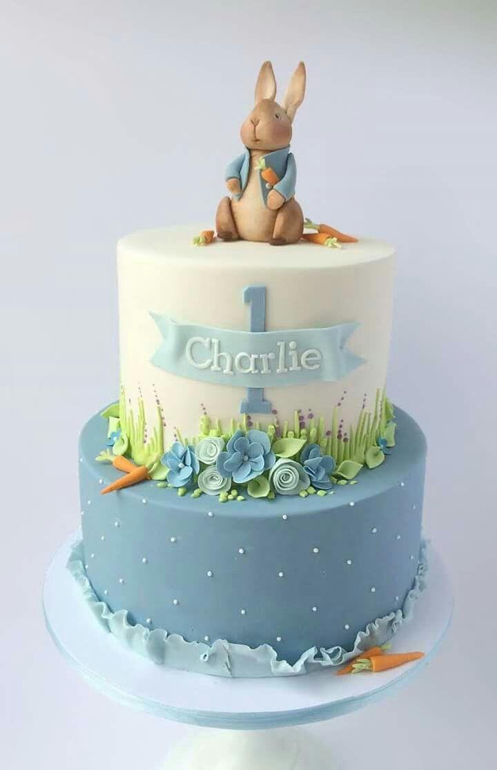 Bunny Birthday Cake Peter Rabbit Pinterest