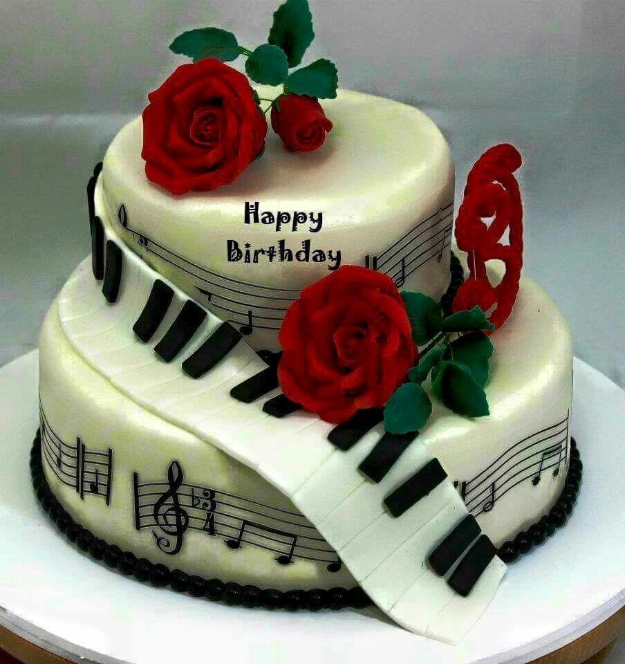 Cake Happy Birthday Music Musik Kuchen Pinterest