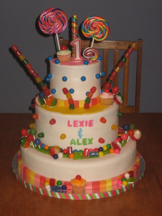 Candyland Birthday Cake Candyland First Birthday Cake Cakecentral