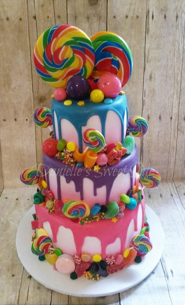 Candyland Birthday Cake Willy Wonka Candy Themed Birthday Cake Candycrush Candy