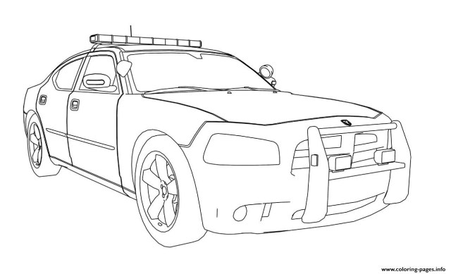 Car Coloring Pages Dodge Charger Car Coloring Pages Printable