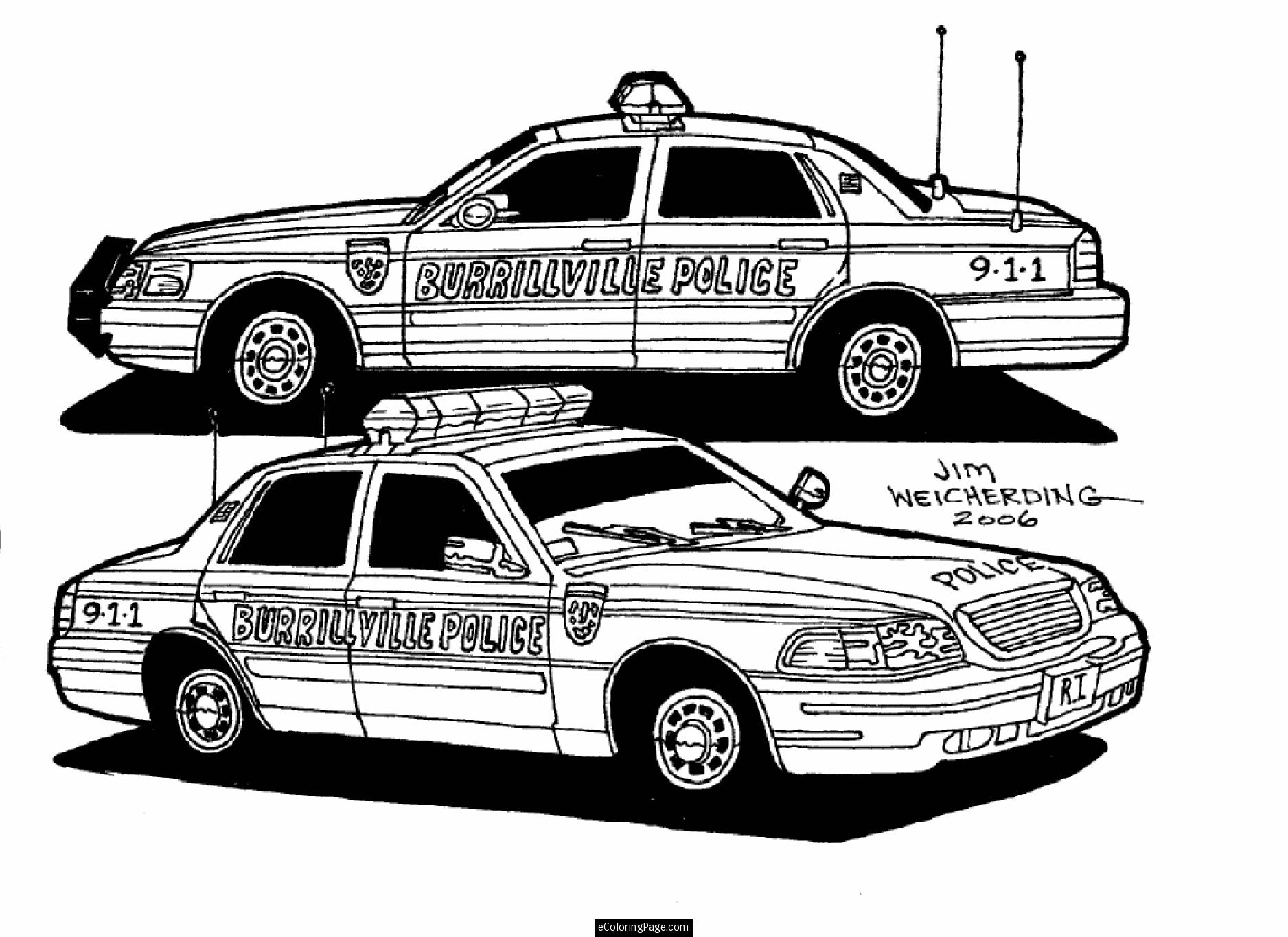 Car Coloring Pages Police Cars Coloring Pages Police Cars Printable Coloring Page
