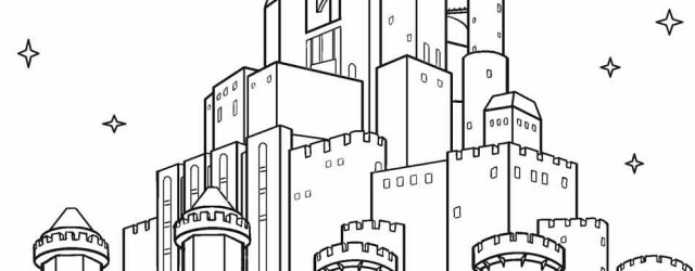 Castle Coloring Pages Printable Castle Coloring Pages For Kids Cool2bkids