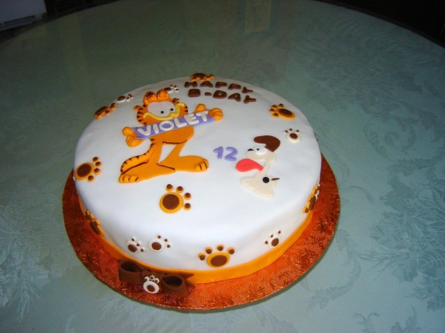 Cat Cakes For Birthdays Garfield The Cat Birthday Cake Cakecentral