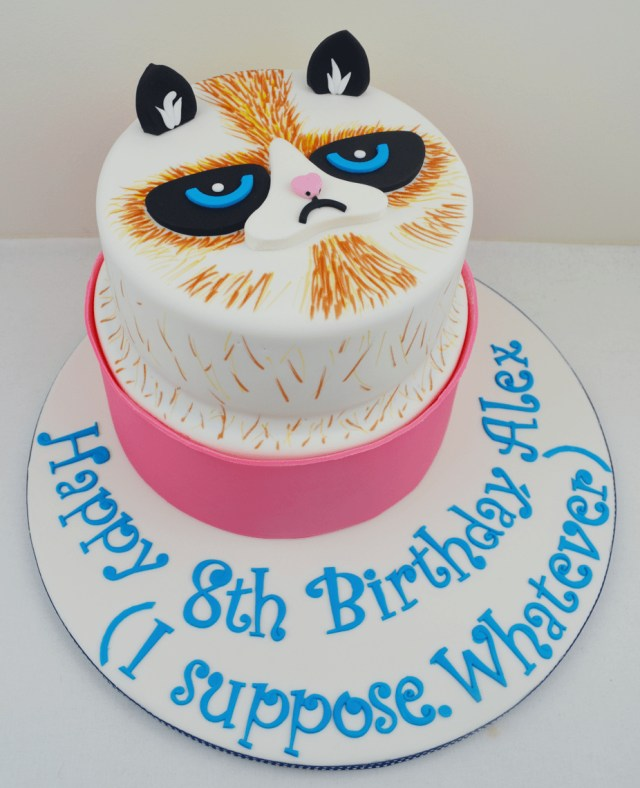 Cat Cakes For Birthdays Grumpy Cat Cake