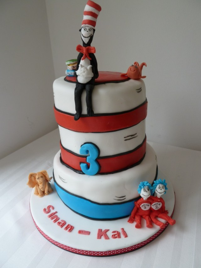 Cat In The Hat Birthday Cake Cat In The Hat Birthday Cake Wedding Birthday Cakes From