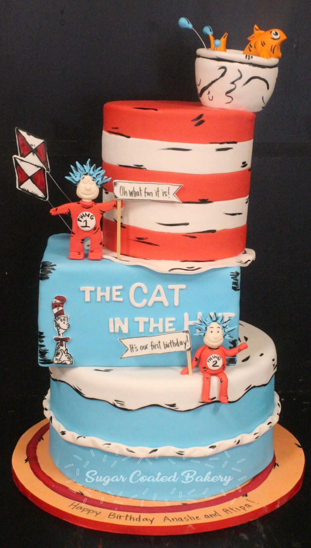 Cat In The Hat Birthday Cake Sugar Coated Bakery Lowell Baking Everyday Better