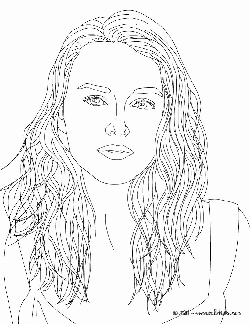 Celebrity Coloring Pages Celebrity Coloring Realistic Person 4 ...