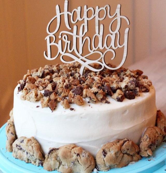 Chocolate Chip Cookie Birthday Cake Chocolate Chip Cookie Chocolate Birthday Cake Sevenlayercharlotte