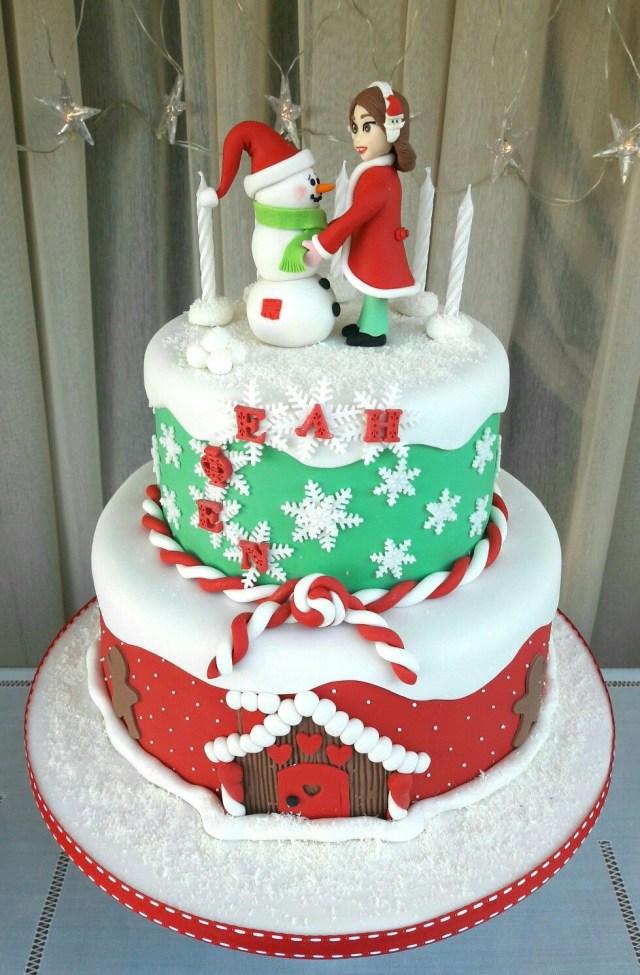 Christmas Birthday Cake Christmas Birthday Cake My Cakescookies Pinterest Christmas