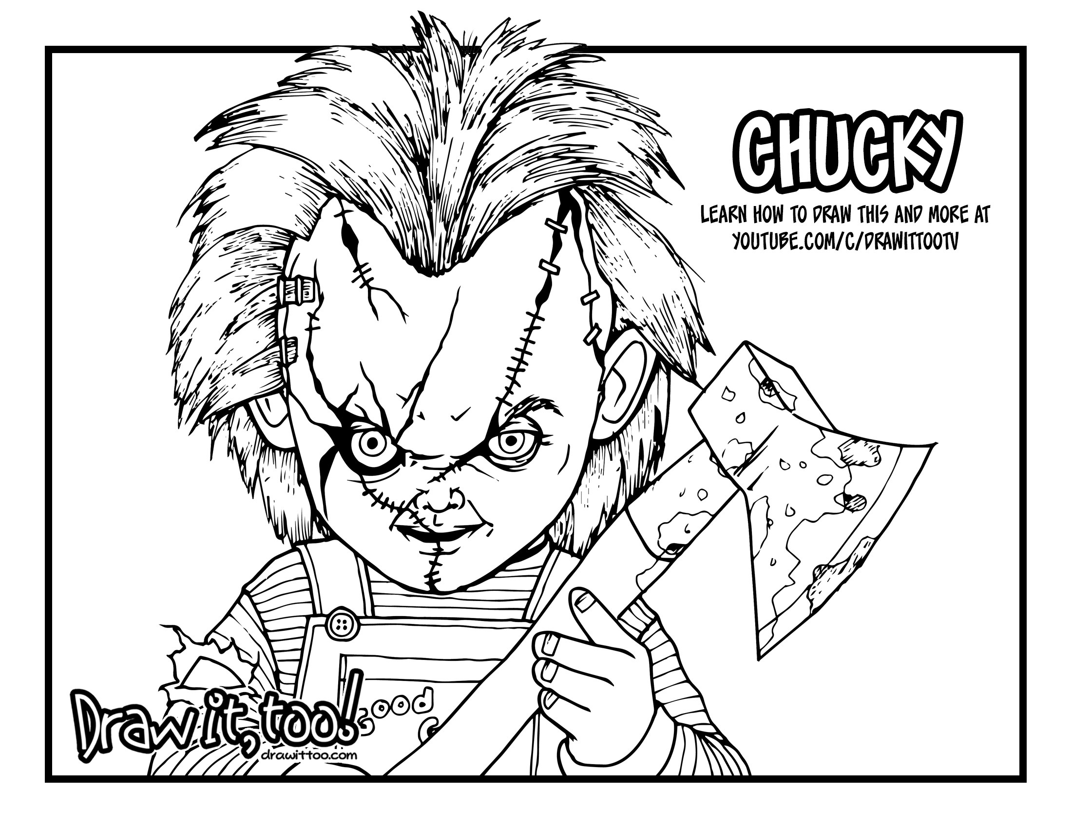 Chucky Coloring Pages 8 Chucky Drawing Coloring Page For Free Download On Ayoqq