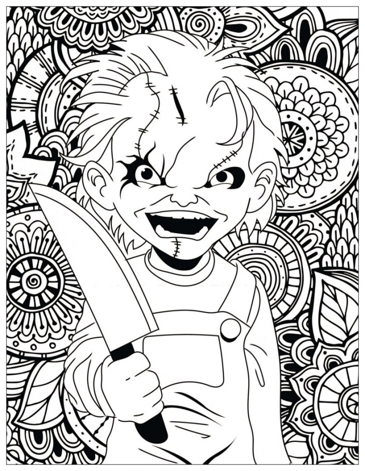 Creative Photo of Chucky Coloring Pages