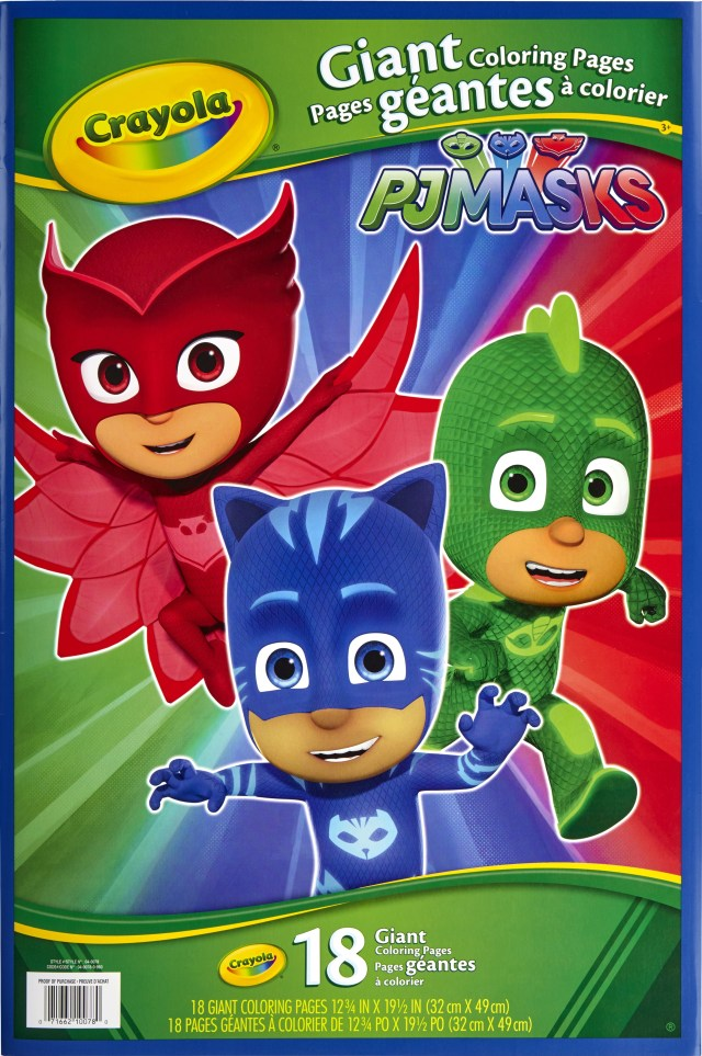 Crayola Giant Coloring Pages Crayola Giant Coloring Pages Featuring Disneys Pj Masks Walmart