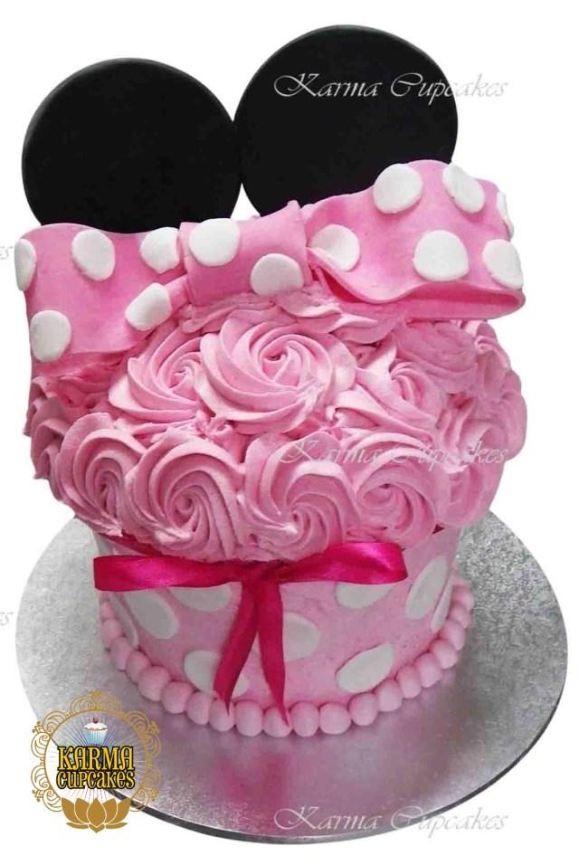 Cupcake Birthday Cake Minnie Mouse Giant Cupcake