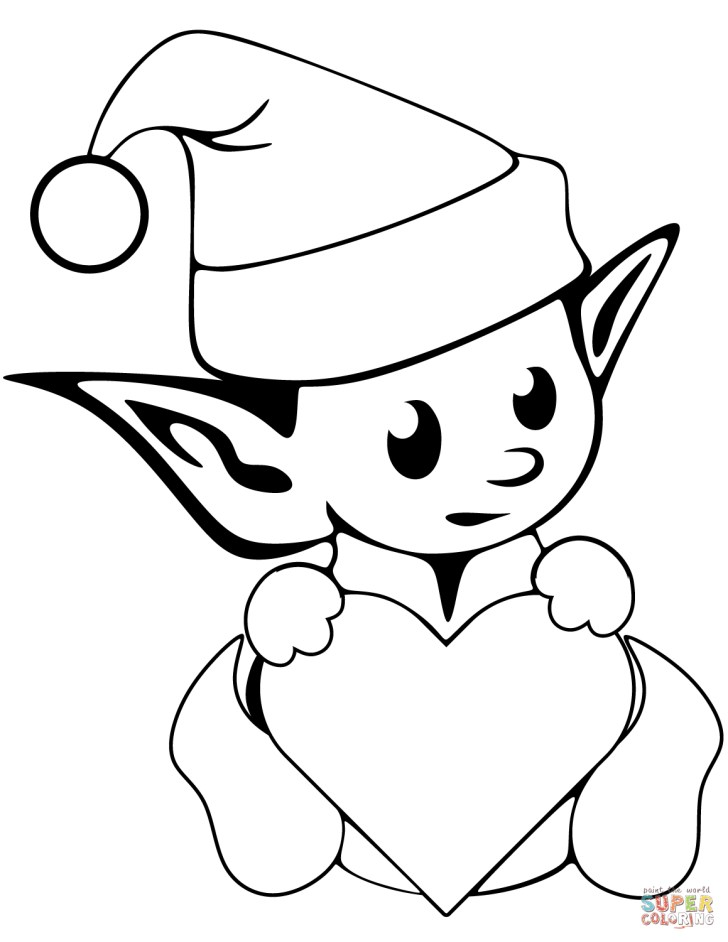 27+ Pretty Image of Cute Christmas Coloring Pages