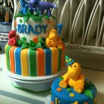 Dinosaur Birthday Cakes Dinosaur 1st Birthday Cake With Smash Cake Baked Margarida
