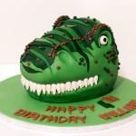 Dinosaur Birthday Cakes T Rex Green Dinosaur Birthday Cake