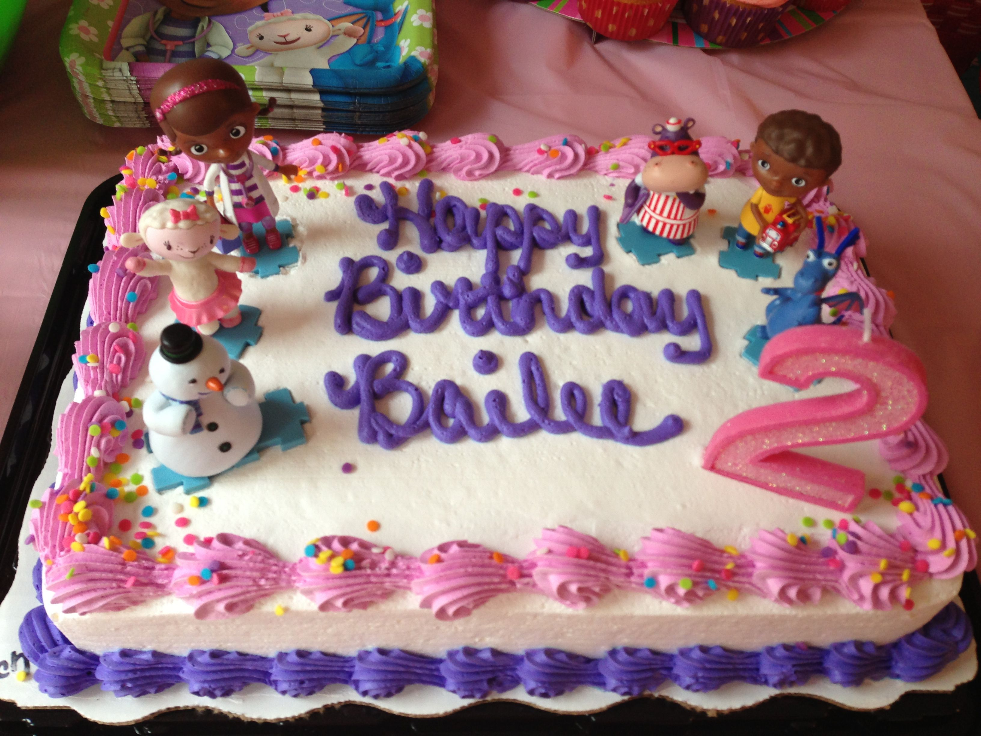 Doc Mcstuffin Birthday Cake Bailees Doc Mcstuffins Birthday Cake