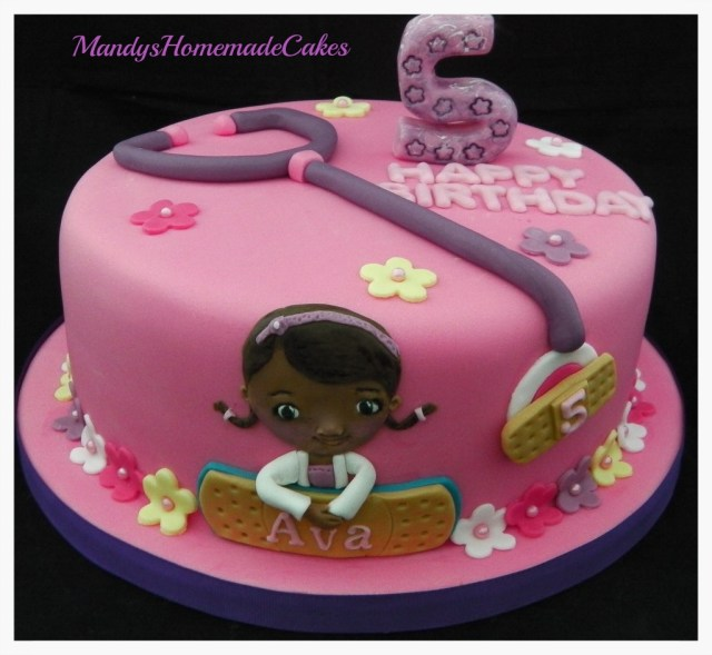 Doc Mcstuffin Birthday Cake Doc Mcstuffins Birthday Celebration Cake Mandys Homemade Cakes