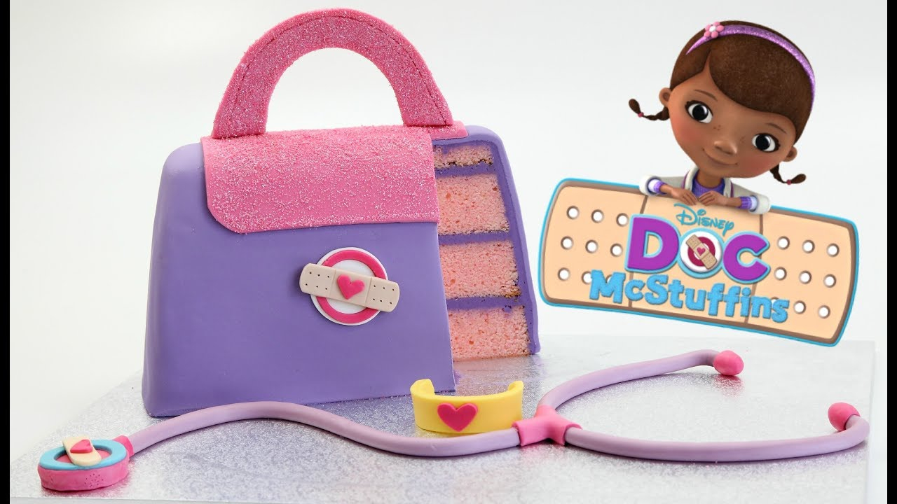 Doc Mcstuffins Birthday Cake How To Make A Disney Doc Mcstuffins Cake Youtube