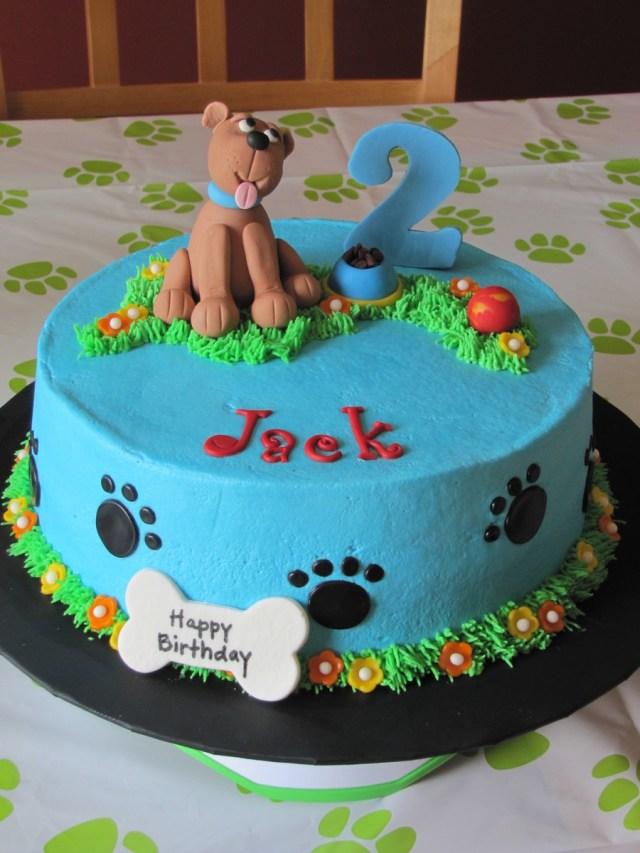 Dog Themed Birthday Cake Dog Themed 2nd Birthday Cake Cakecentral