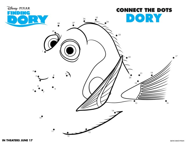Dory Coloring Pages Free Activity Pages For Kids Save Finding Dory Coloring Pages And