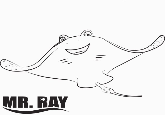 Dory Coloring Pages Ray Finding Dory Coloring Pages For Finding Nemo Characters Coloring