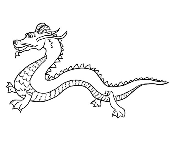 Dragon Coloring Pages Chinese Dragon Coloring Page Wpvote