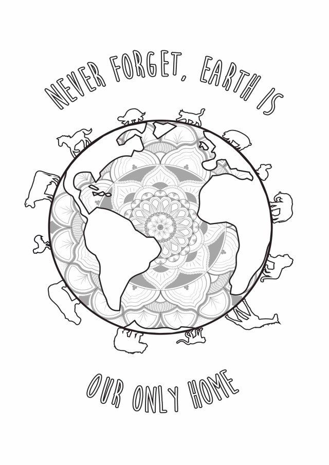 Earth Coloring Pages Earth Day Louise Earth Day Adult Coloring Pages