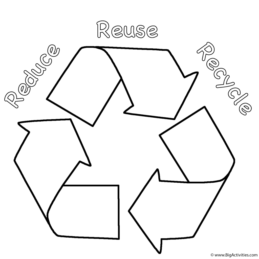 Earth Coloring Pages Math Worksheets Recycling For