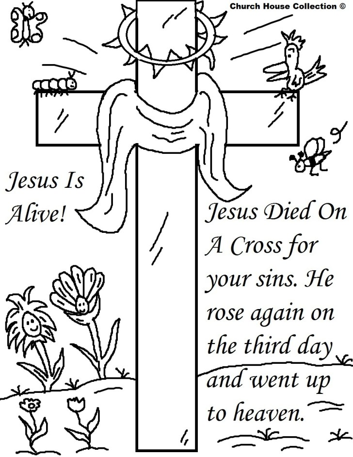 27+ Marvelous Image of Easter Coloring Pages Religious