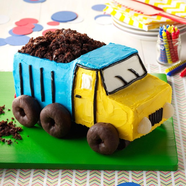 Easy Birthday Cake Recipe Dump Truck Cake Recipe Taste Of Home