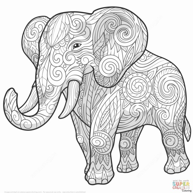 Elephant Adult Coloring Pages Elephant Mandala Coloring Pages Fresh Mandala Coloring Pages For