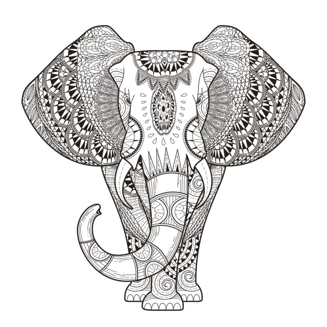 Elephant Adult Coloring Pages Mandala Adult Coloring Pages 68 Elephant Coloring Pages For Adults