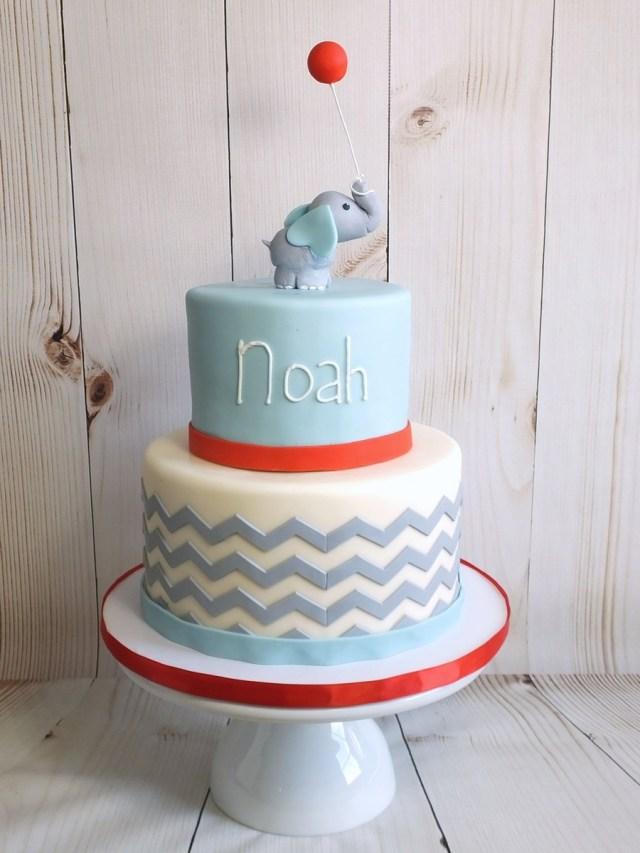Elephant Birthday Cakes Ba Elephant 1st Birthday Cake Cakecentral