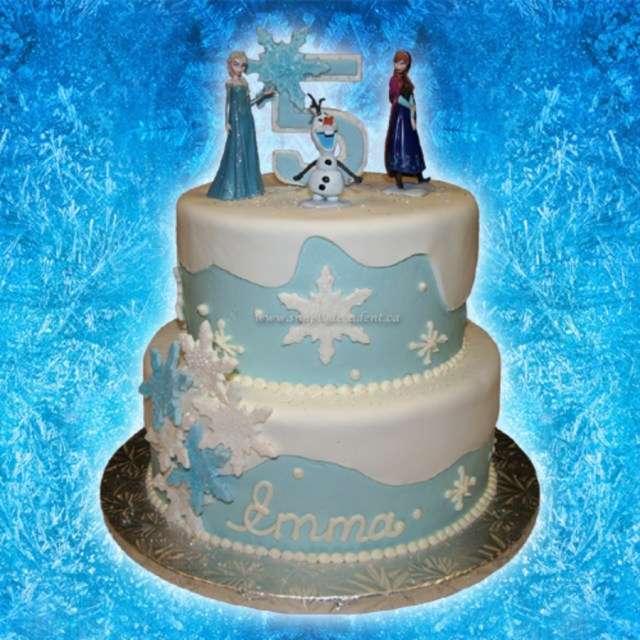 Elsa Birthday Cake 2 Tier Buttercreamfondant Disney Frozen Birthday Cake With Anna Elsa