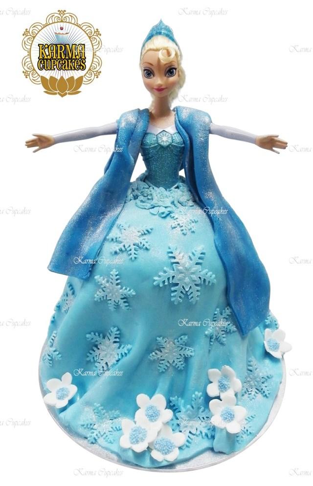 Elsa Birthday Cakes 3d Elsa Doll Birthday Cake