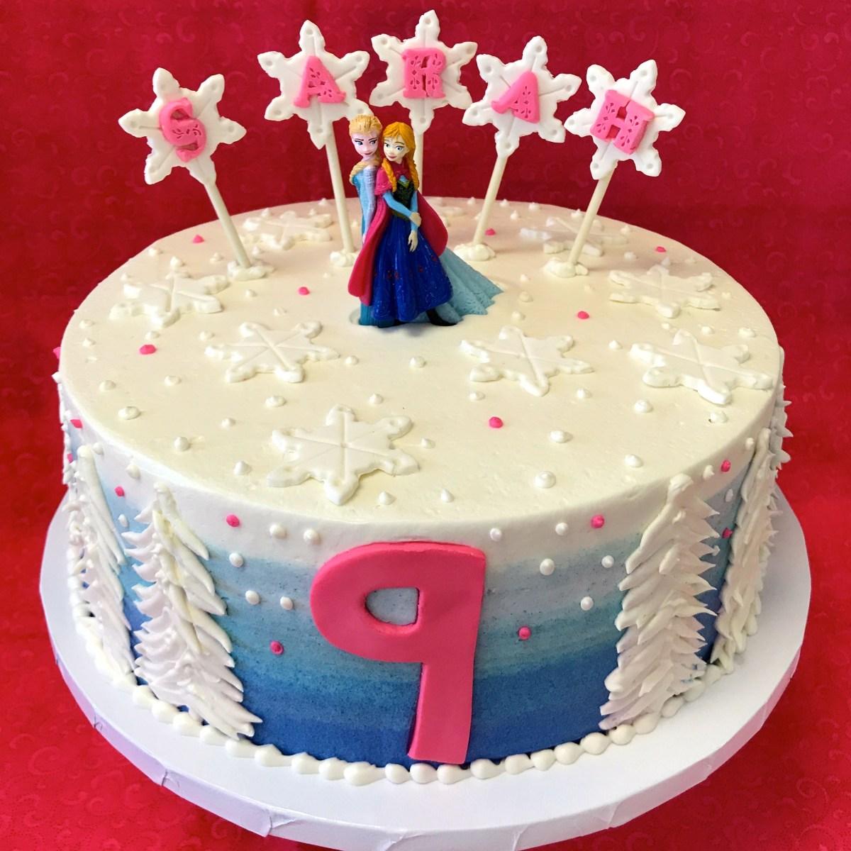 Elsa Birthday Cakes Disney Frozen Birthday Cake As Shown