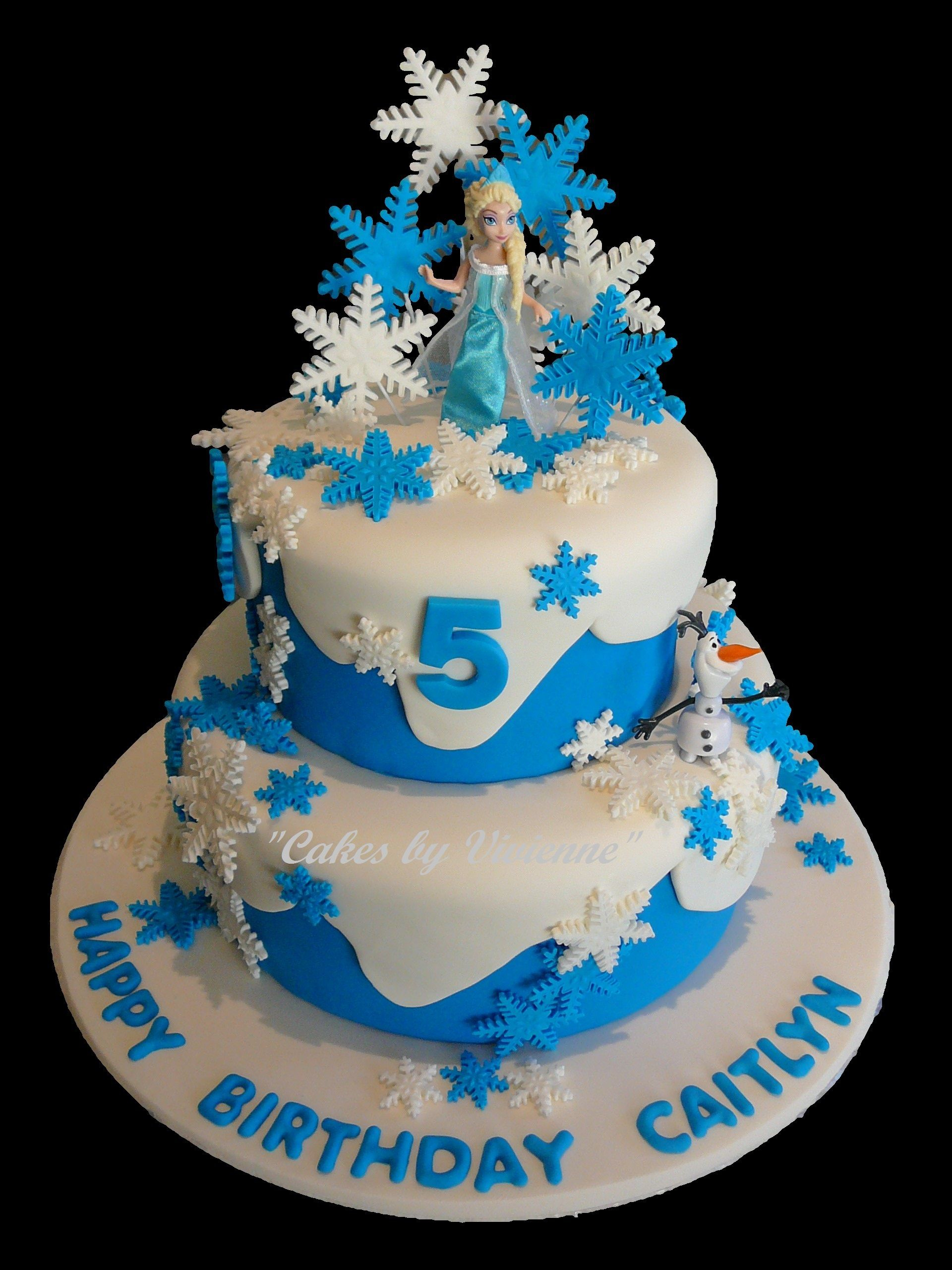 Elsa Birthday Cakes Frozen Themed Cake For A 5 Year Old Featuring Olaf